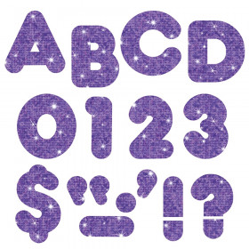"""Purple Sparkle 4"""" Casual UC Ready Letters"""