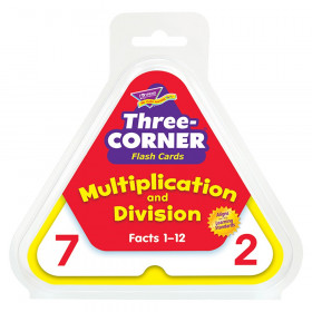 Multiplication and Division Three-Corner Flash Cards
