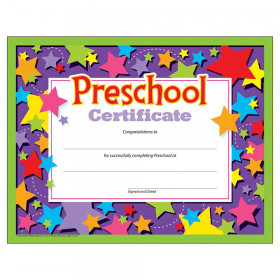 Preschool Certificate , 30 ct