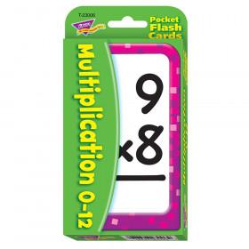 Multiplication 0-12 Pocket Flash Cards