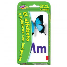 El Alfabeto y Palabras con Imágenes (SP) Pocket Flash Cards
