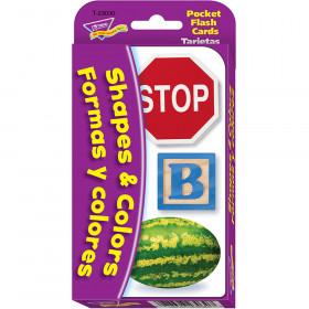 Colors & Shapes/Colores y formas (EN/SP) Pocket Flash Cards