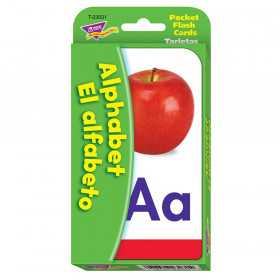 Alphabet/El Alfabeto (EN/SP) Pocket Flash Cards