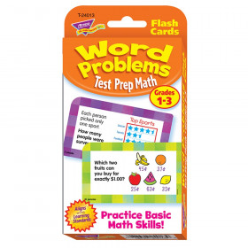 Word Problems Test Prep Math, Grades 1-3 Challenge Cards