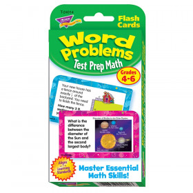 Word Problems Test Prep Math, Grades 4-6 Challenge Cards®
