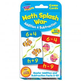 Math Splash War Addition & Subtraction Challenge Cards