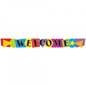 Welcome Shapes Quotable Expressions® Banner – 10 Feet