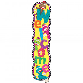 Welcome Sock Monkeys Quotable Expressions® Banner – 5 Feet