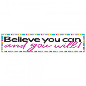 Believe you can and you will Quotable Expressions Banner, 3'