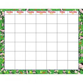 Monkey Mischief® Wipe-Off® Calendar – Monthly