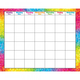 Colorful Brush Strokes Wipe-Off® Calendar – Monthly