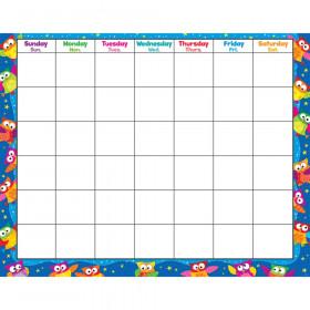 Owl-Stars! Wipe-Off Calendar, Monthly