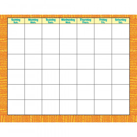Reptile Orange Wipe-Off® Calendar – Monthly