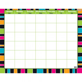Stripe-tacular Groovy Wipe-Off® Calendar – Monthly