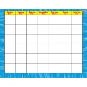 Reptile Blue Wipe-Off® Calendar – Monthly
