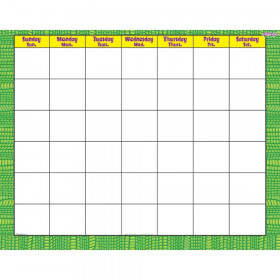 Reptile Green Wipe-Off® Calendar – Monthly