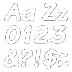 White 4-Inch Italic Uppercase/Lowercase Combo Pack (EN/SP) Ready Letters®