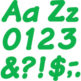 Green 4-Inch Italic Uppercase/Lowercase Combo Pack (EN/SP) Ready Letters®