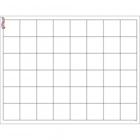"Graphing Grid (Large Squares) Wipe-Off Chart, 17"" x 22"""