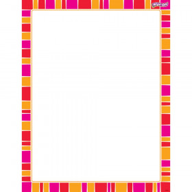 Stripe-tacular Snazzy Red Wipe-Off® Chart