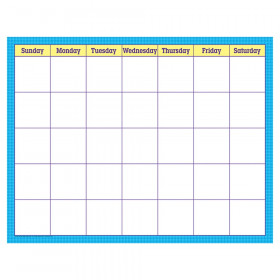 """Blue Check Wipe-Off Calendar, Monthly, 17"""" x 22"""""""