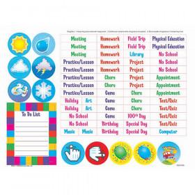 Jigsaw Weekly Calendar Kit Wipe Off Charts & Maps