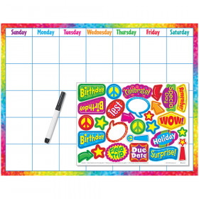 Colorful Brush Strokes Calendar (Cling Accents) Wipe-Off® Kit