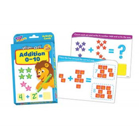 Addition 0-10 Wipe Off Activity Cards