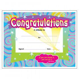 Congratulations/Swirls Colorful Classics Cert's., 30 ct
