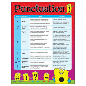 "Punctuation Learning Chart, 17"" x 22"""
