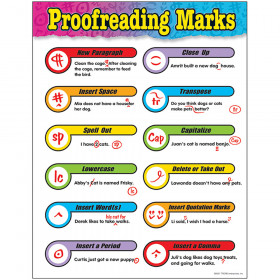 Proofreading Marks Learning Chart