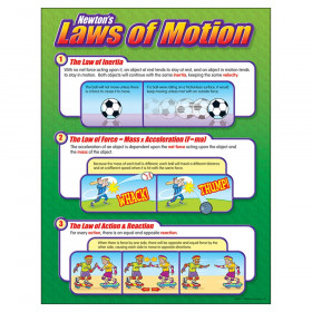 "Newton's Laws of Motion Learning Chart, 17"" x 22"""