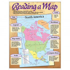 "Reading a Map Learning Chart, 17"" x 22"""
