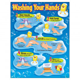 "Washing Your Hands Learning Chart, 17"" x 22"""