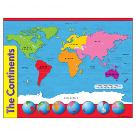 "The Continents Learning Chart, 17"" x 22"""