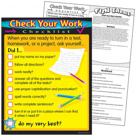 Check Your Work Learning Chart