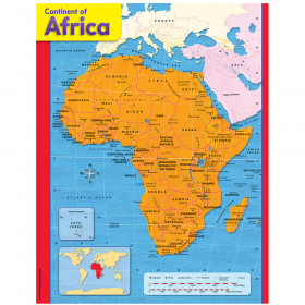 Continent of Africa Learning Chart