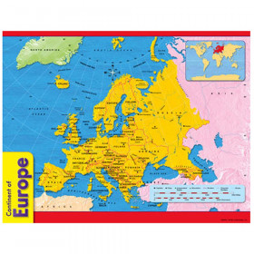 Continent of Europe Learning Chart