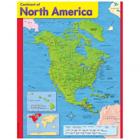 Continent of North America Learning Chart