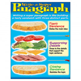 "Write a Super Paragraph Learning Chart, 17"" x 22"""