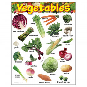 "Vegetables Learning Chart, 17"" x 22"""