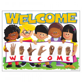 "Sign Language Welcome TREND Kids Learning Chart, 17"" x 22"""