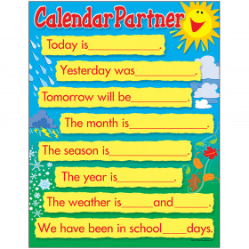 Calendar Partner Learning Chart