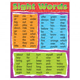 "Sight Words Learning Chart, 17"" x 22"""