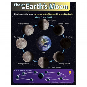 "Phases of Earth's Moon Learning Chart, 17"" x 22"""