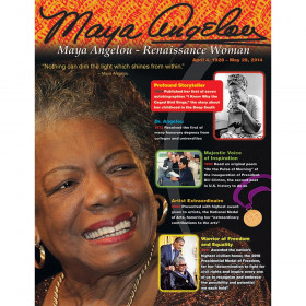 Maya Angelou Learning Chart