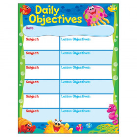 "Daily Objectives Sea Buddies Learning Chart, 17"" x 22"""