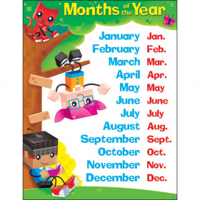 Months of the Year BlockStars!® Learning Chart