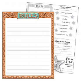 "Rules I  Metal Learning Chart, 17"" x 22"""