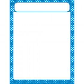 Polka Dots Blue Learning Chart